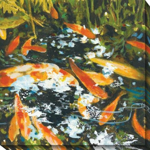 Koi I Canvas Wall Art - I, Orange