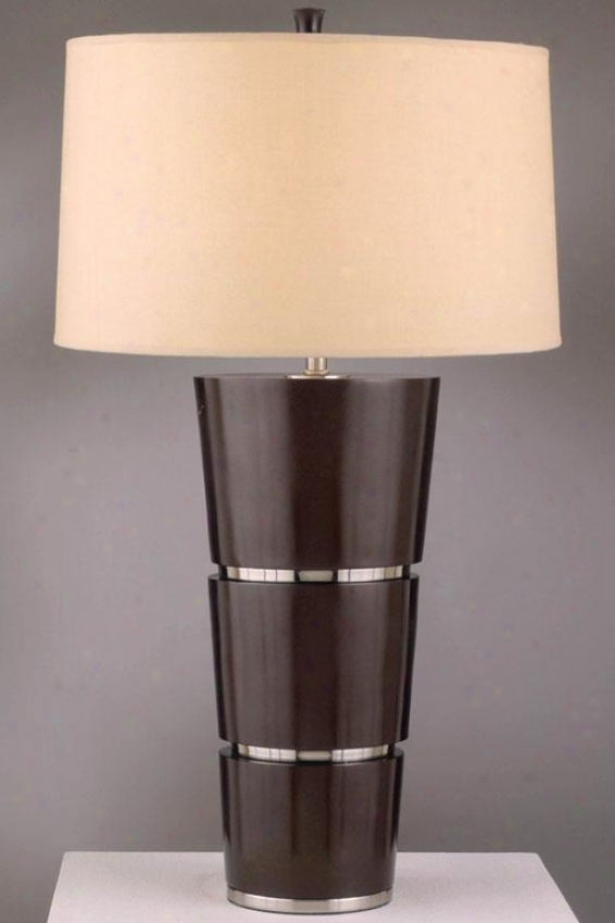 """konico Table Lamp - 29""""h, Brown"""