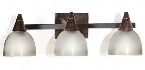 Kyoto 3-light Vanity Light - Three-light, Tan Wood