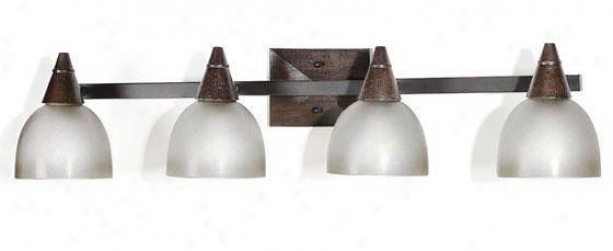 Kyoto 4-light Vanity Light - Four-light, Tan Wood