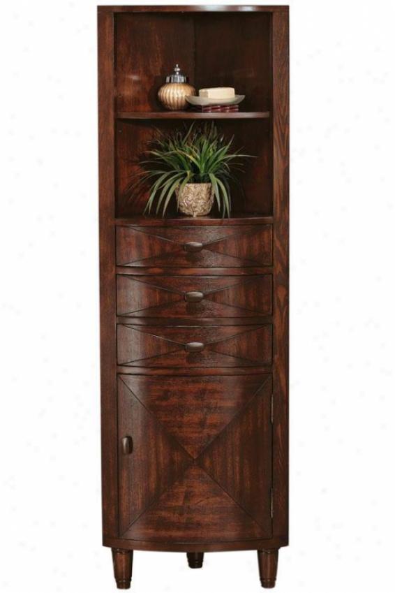 """""""kyoto Corner Linen Storage Cabinet - 67.5""""""""hx2""""2""""w, Brown"""""""