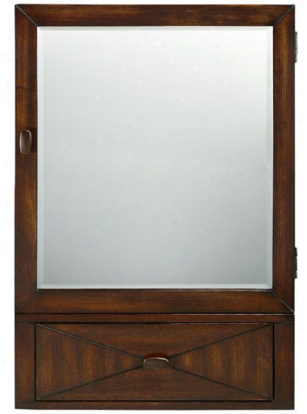 """kyoto Large Mirrore dWall Cabinet - 36""""hx24""""w, Brown"""