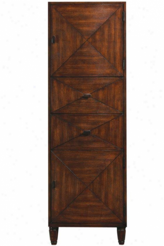 """kyoto Linen Storage Cabinet - 67.5""""hx22""""w, Brown"""