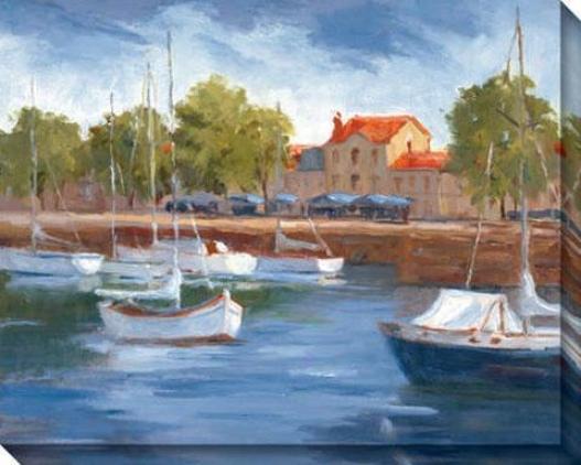 La Roschelle Harbour I Canvas Wall Art - I, Blue