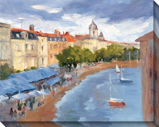 La Roschelle Harbour Ii Canvas Wall Art - Ii, Bule
