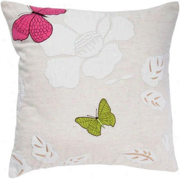 """""""lacey Pillow - 18""""""""x18"""""""", Ivory"""""""