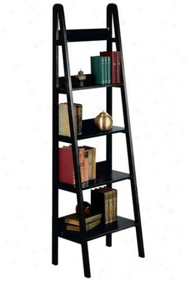 """ladder 18""""w Booskhelf - 18""""w, Black"""