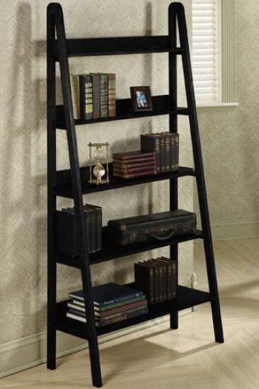 """ladder 30""""w Bookshelf - 30""""w, Black"""