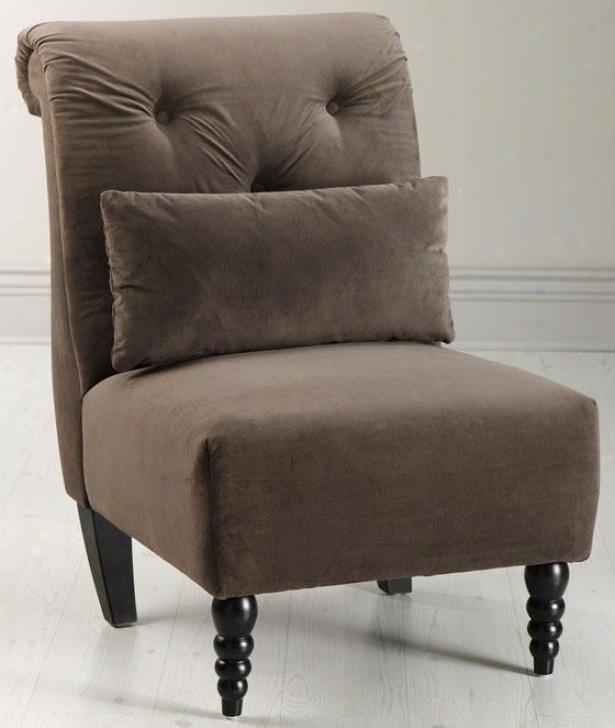 """""""lainey Tufted Slipper Chair - 39.5""""""""hx26""""""""w, Solid Brwn Vlvt"""""""
