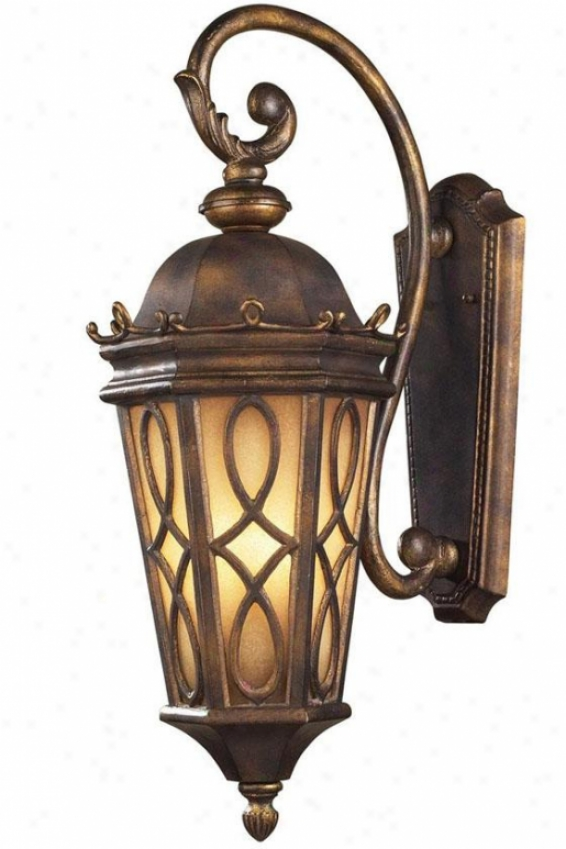 """lake Champlain 27""""h Outdoor Sconce - 3-light, Hazelnut Bronze"""
