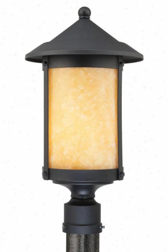 """""""landon Outdoor Post Lantern - 20""""""""h, Black"""""""