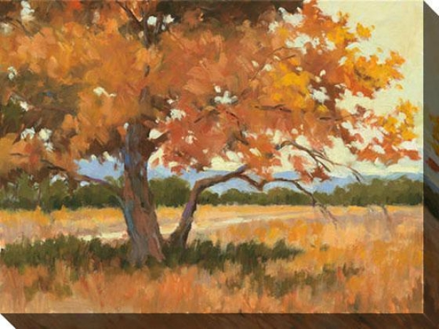 Landscape In Gold I Canvas Wall Art - I, Orange