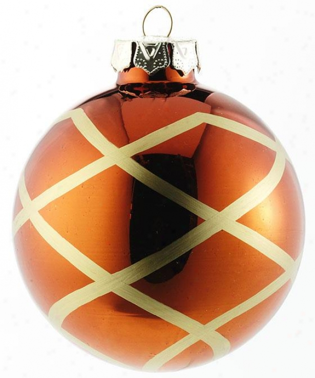 Large Glass Ornament - Set Of 4 - 80mm Gl Ornamnt, Chocolate Brown