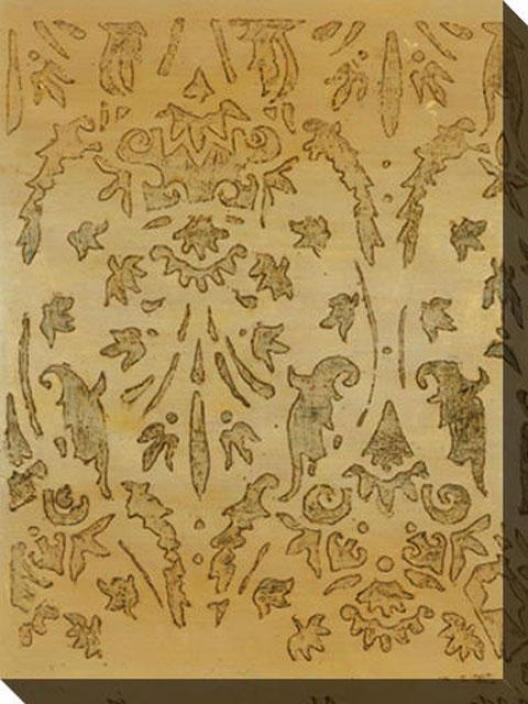 Lasting Impression Ii Canvas Wall Art - Ii, Gold