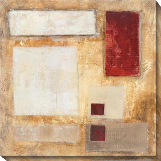 Lattice Ii Canvas Wall Art - Ii, Gold