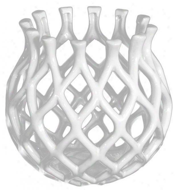 Lattice Vase - Small, White