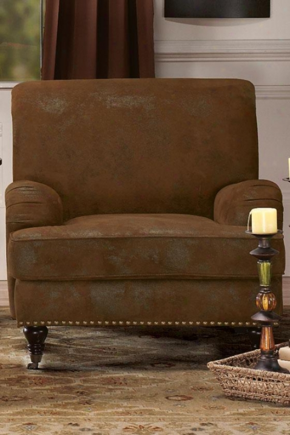 """lauren Arm Chair - 36""""hx35""""w, Brown"""