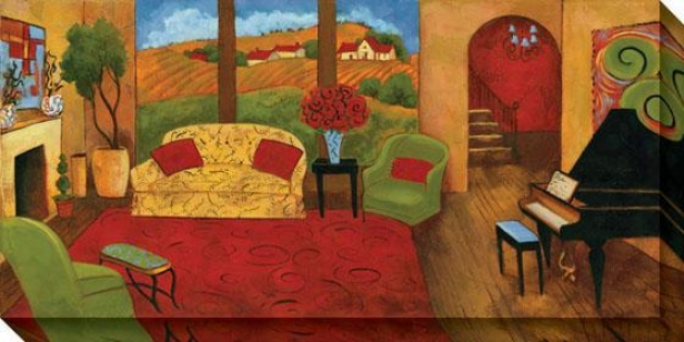 Lavish Surroundings I Canvas Wall Art - I, Multi
