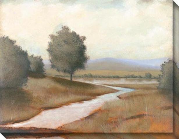 """""""lazy River Canvas Wall Art - 46""""""""hx36""""""""w, Earthtones"""""""
