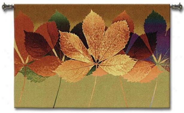 """""""leaf Dance Ii Tapestry - 35""""""""hx53""""""""w, Multi"""""""