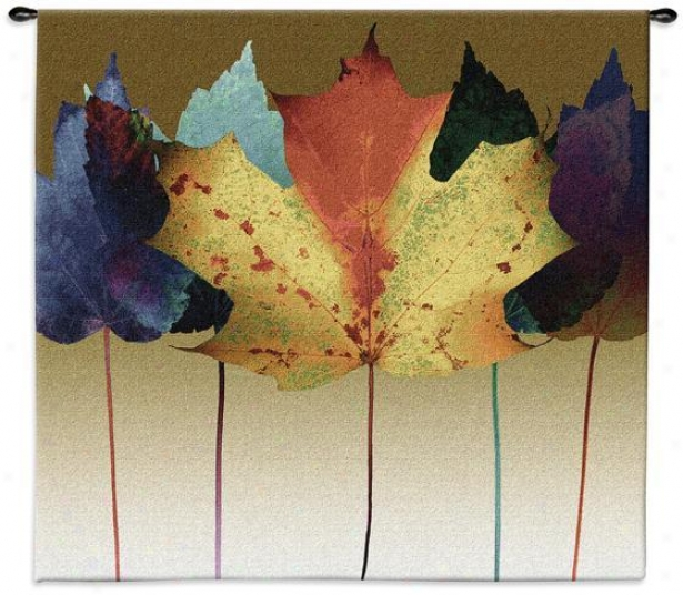 """""""leaf Dance Tapestry - 53""""""""hx53""""""""w, Multi"""""""