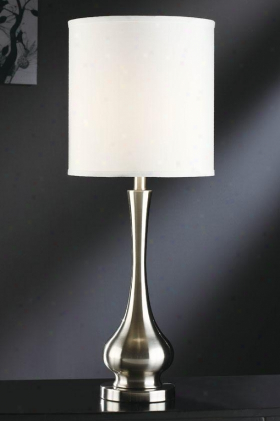 """leah Table Lamp - 31.75""""h, Silver Nickel"""