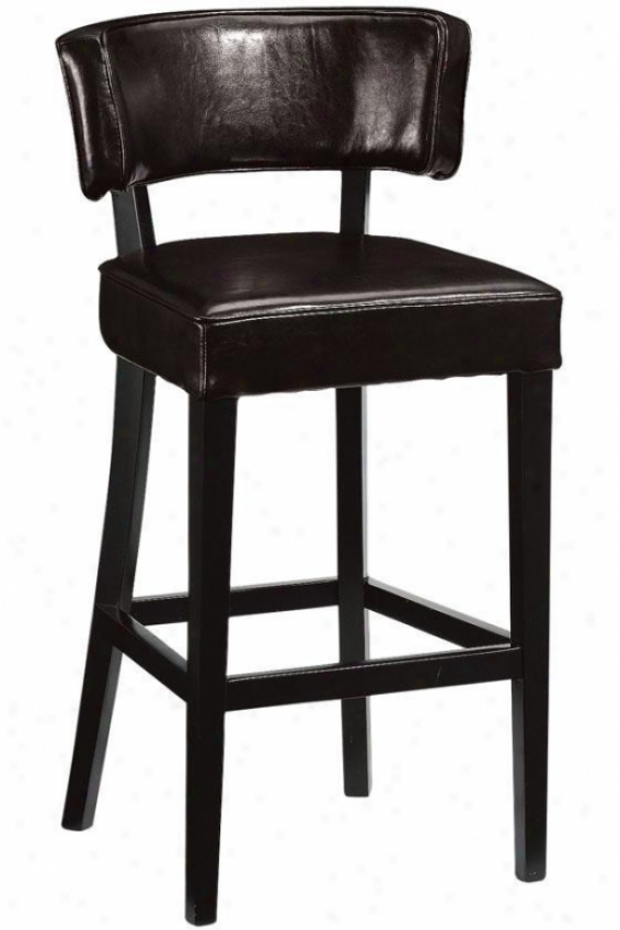 """leather High-back Obstacle Stool - 30""""h, Brown"""