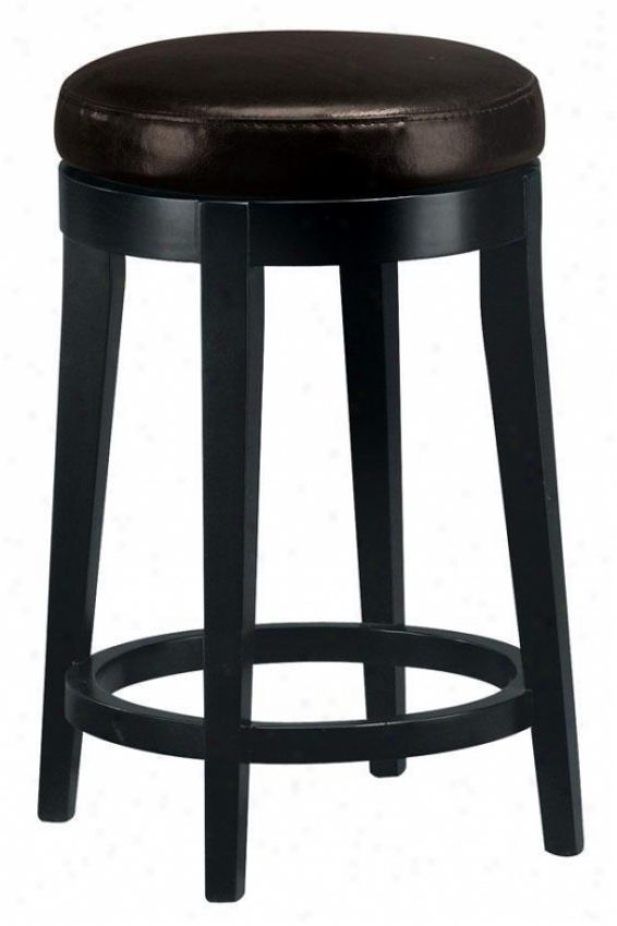 """""""leather Non-tufted Swivel Couny3r Stool - 24""""""""counter, Brown"""""""
