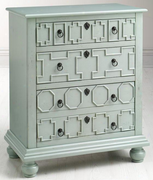 """left Bank 28""""w File Cabinet - 36""""x28""""x15.77, Dstrssd Turquoi"""