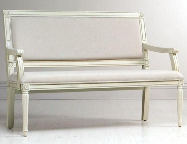 """left Bank Settee - 55""""hx20""""w,_Cream"""