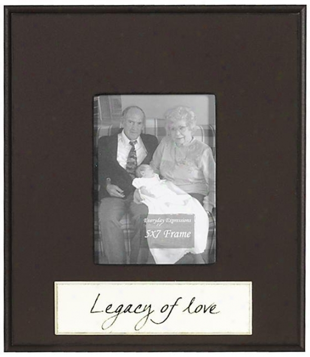 Legacy Of Love Frame - 5 X 7 - 5x7, Brown