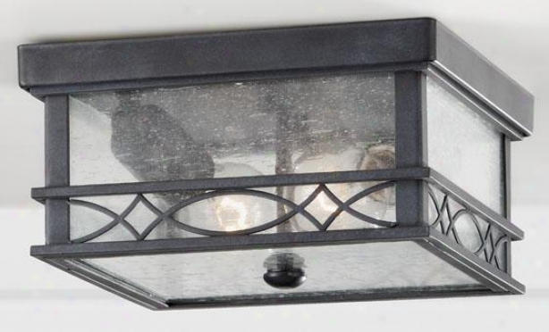 """leighton Outdoor Flush Mount - 5""""h X 9.5""""w, Fog"""