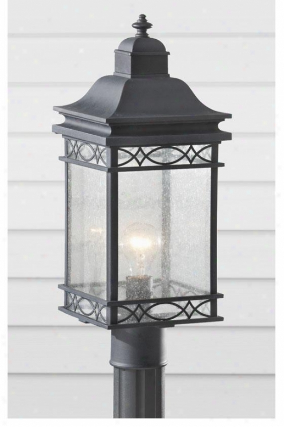 """leighton Outdoor Lamp Post - 19.5""""h X 7.75""""w, Fog"""