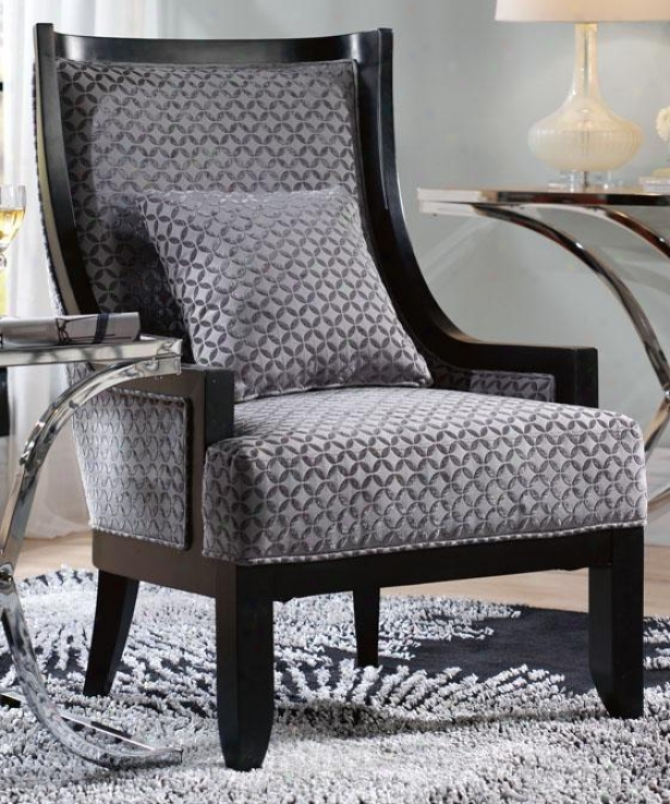 """lenox Accent Chair - 42.2""5""hx29""""w, Gray Tonal Prnt"""