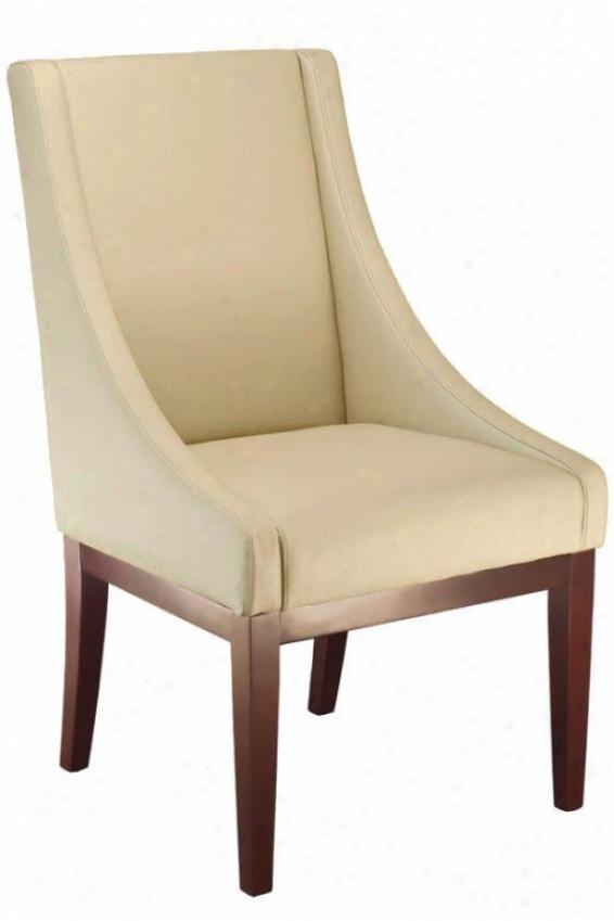 """lenox Leather Side Chair - 30""""hx18""""w, Cream"""