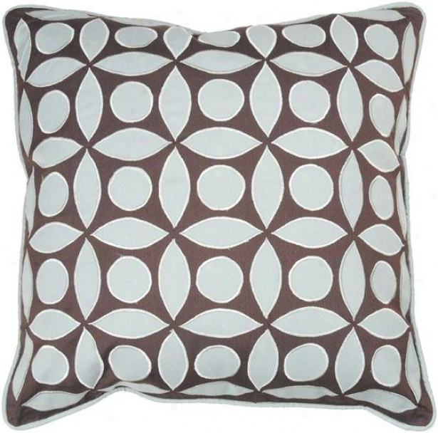 Leo Pillow - 18hx18w, Blue