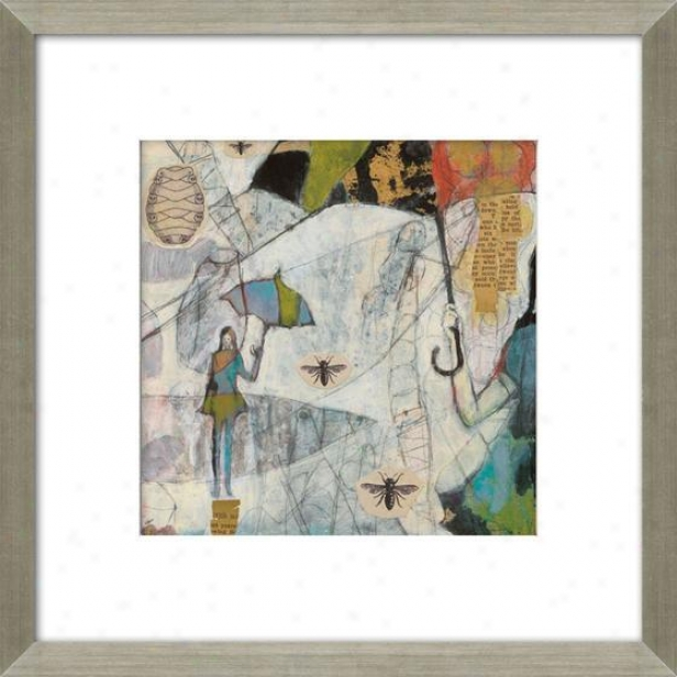 Let It Be I Framed Wall Art - I, Matted Silver