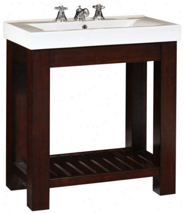 """lexi Bathroom Vanity - 34""""hx31.5""""w, Brown Wood"""