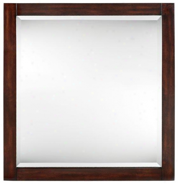 """lexi Mirror - 32""""hxx30""""w, Brown Forest"""