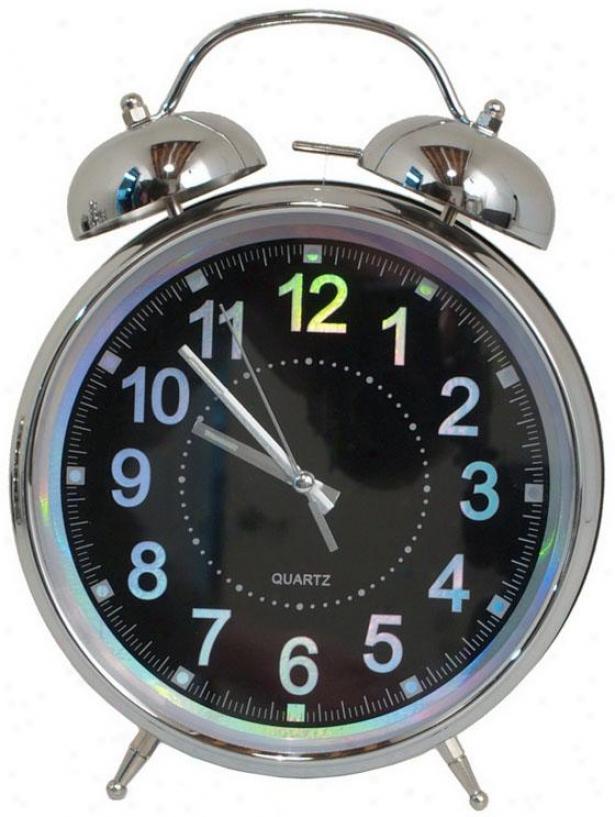 """liam Twin Belo Alarm Clock - 12hx8.5wx3.25""""d, Blue"""