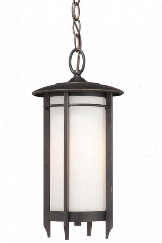"""liberty Outdoor Hanging Lantern - 17.5""""h, Gold Bronze"""