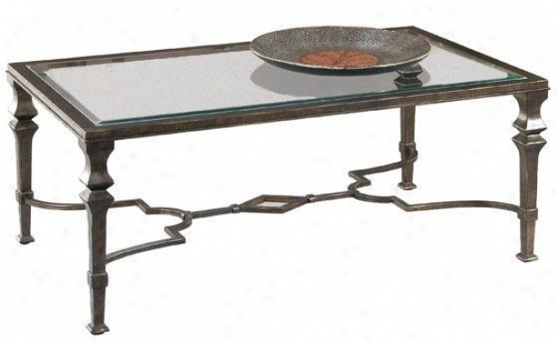 """lido Rectangle Coffee Table - 19""hx50""""w, Bronze"""