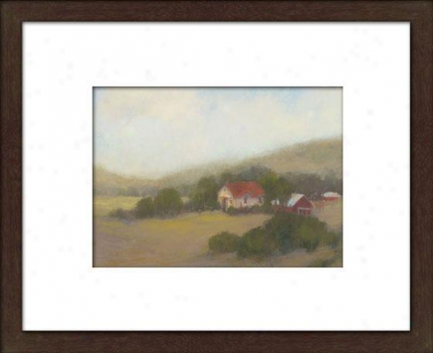 Lifting Clouds Ii Framed Wall Art - Ii, Matted Espresso