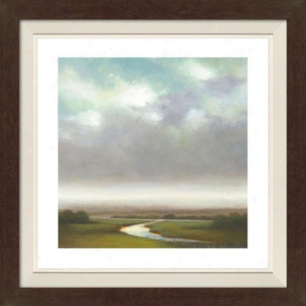 Light Precipitation I Framed Wall Art - I, Fltd Espresso