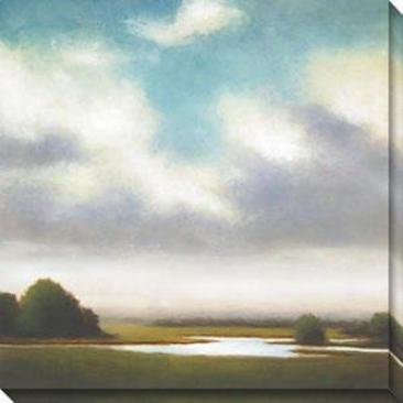 Light Precipitation Ii Canvas Wall Art - Ii, Gray