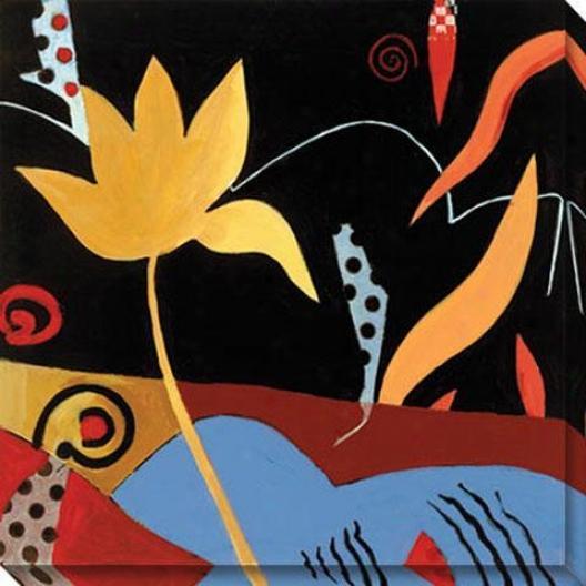 Lilien Iii Canvas Wall Art - Iii, Red