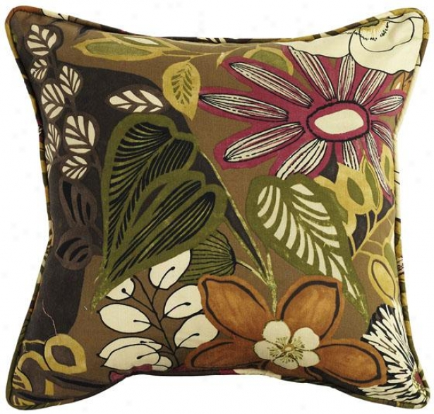 """lilith Chocolate Fiber-filled Pillow - Fiber-flld Pllw, 19""""square"""