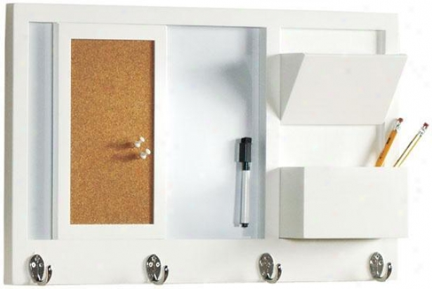 """lillian Memo Board - 13.5""""hx23.5""""w, White"""