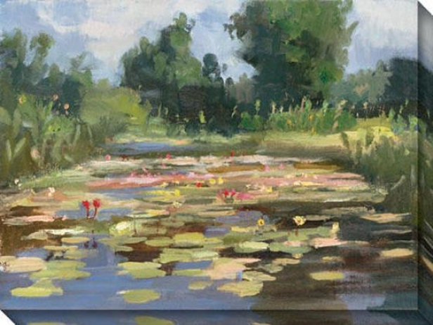 """""""lillies At Noon Canvaz Wall Trade - 48""""""""hx36""""""""w, Green"""""""