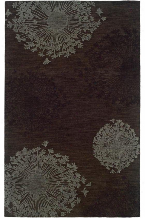 Lily's Lace Area Rug - 2'6 X 8, Brown